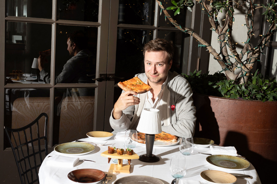 "David Gelb Dreams of Pizza ""Legendary pizza for both breakfast and lunch — not bad."""