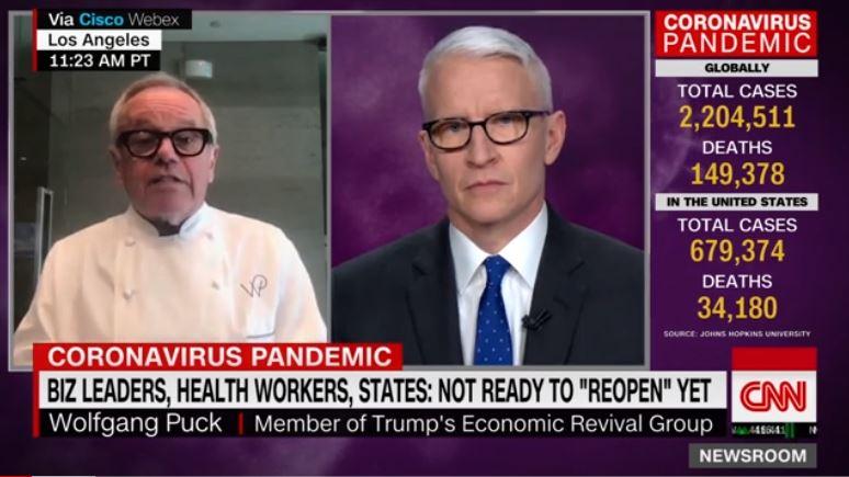 Wolfgang Puck on closed restaurants: Backbone of America