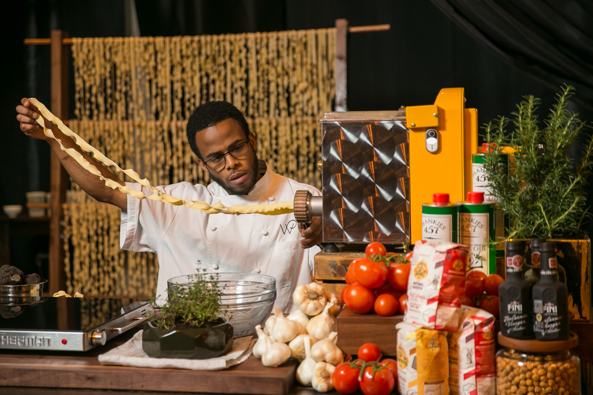 pasta station Wolfgang puck catering
