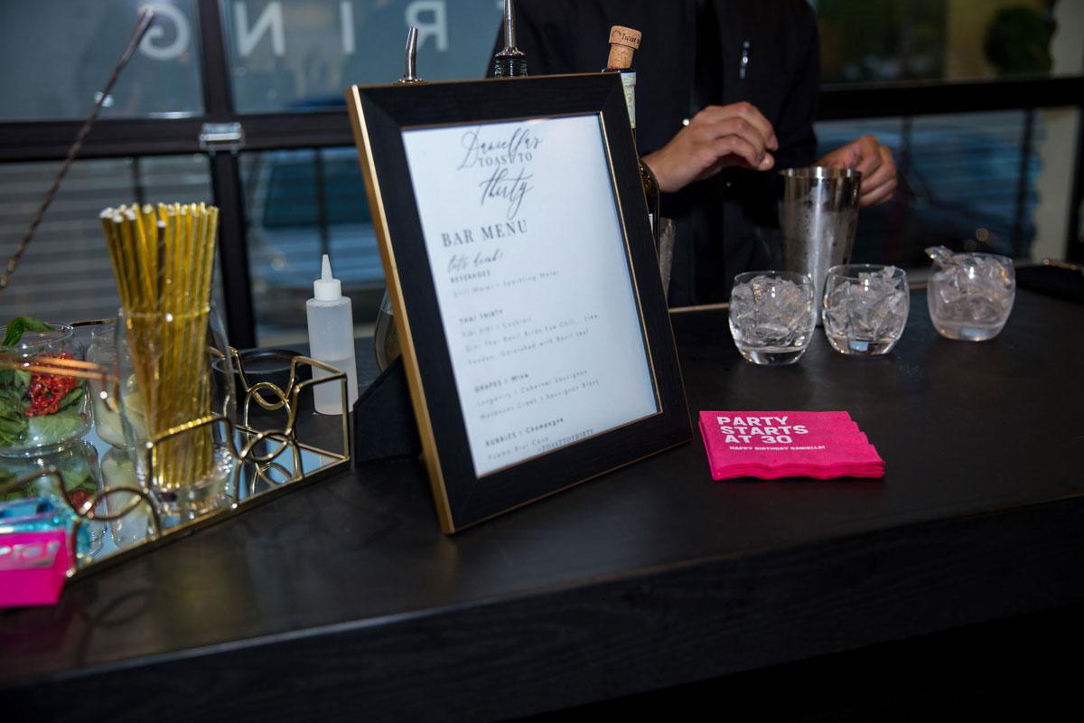 Personalized Bar Menu by Wolfgang Puck