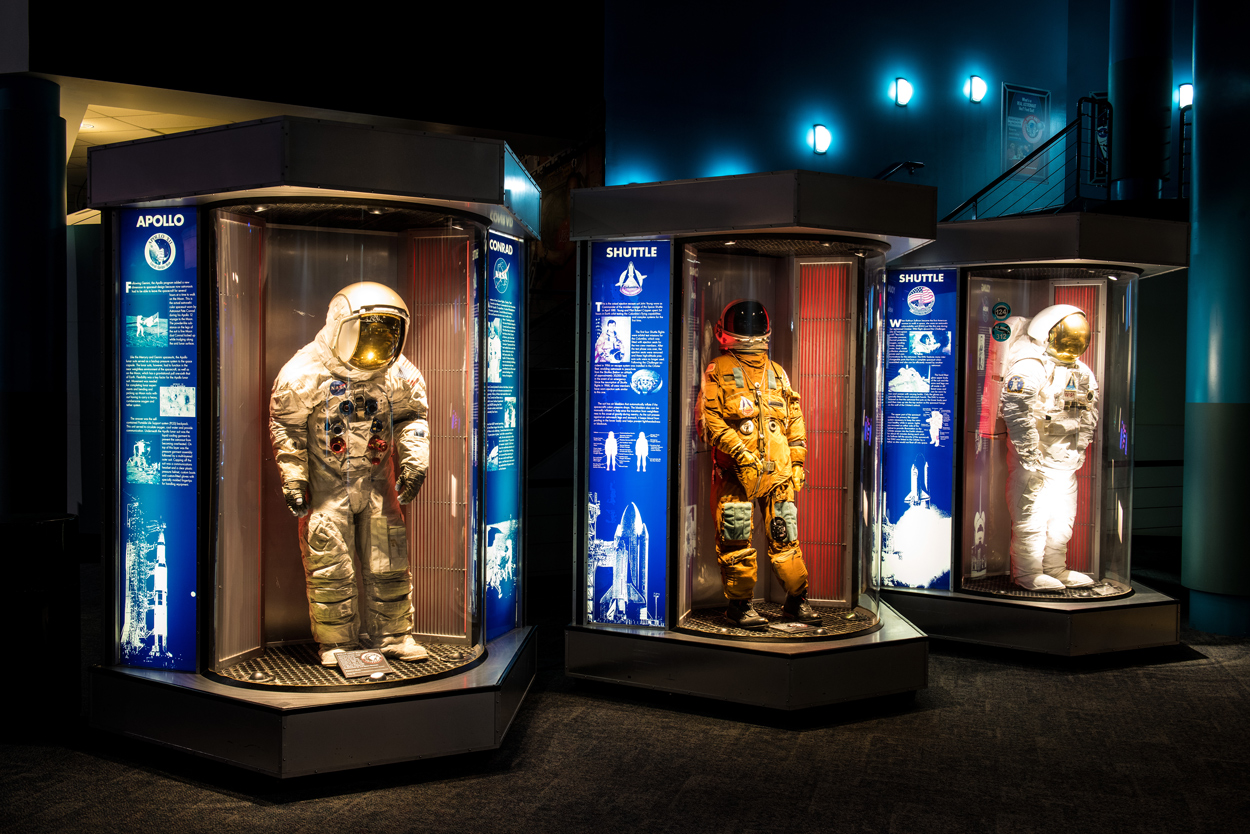 space center houston space suits