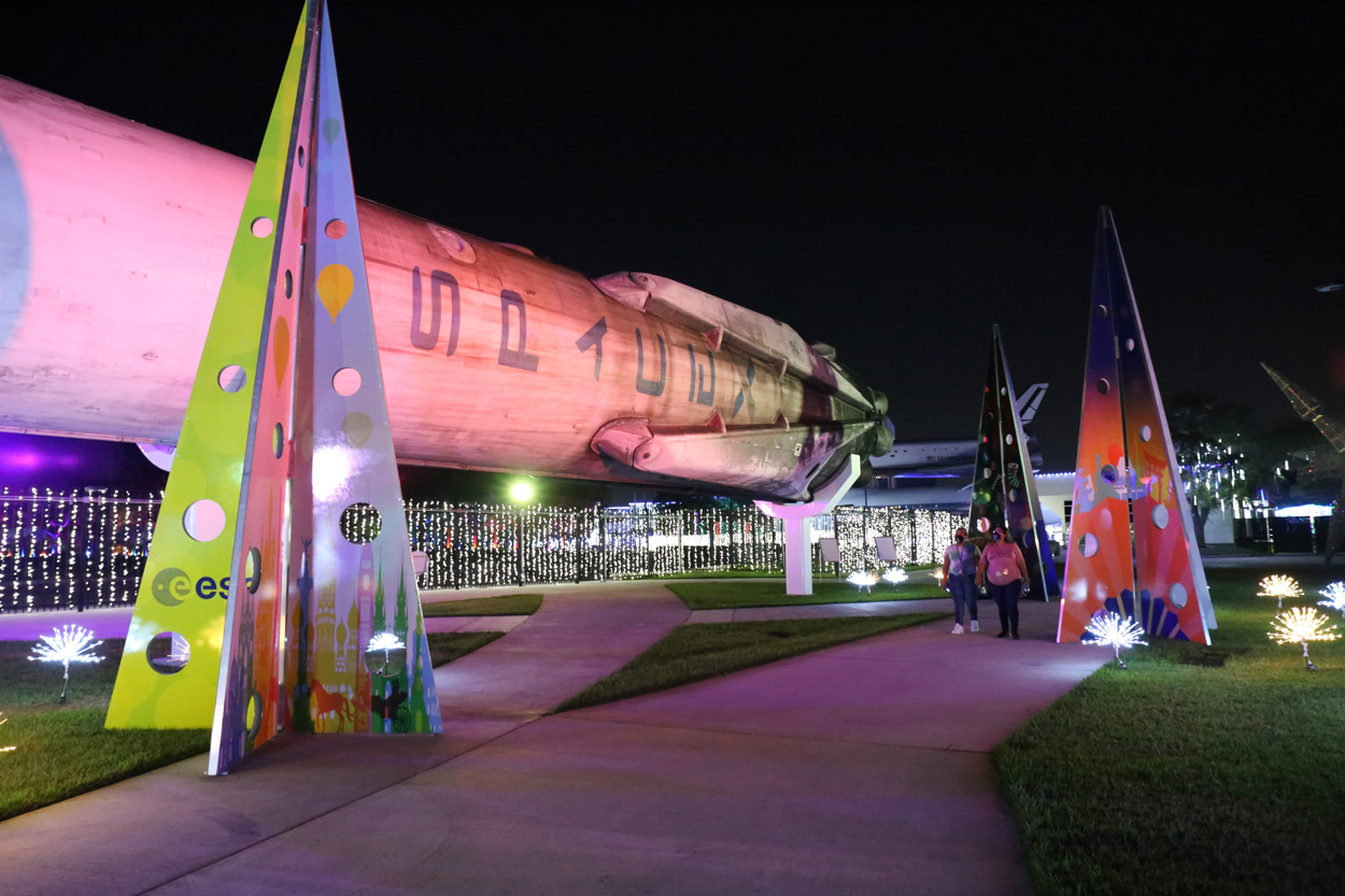 NASA Plane at Space Center Houston Wolfgang Puck Catering's Venue